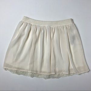 Cream Chiffon & Lace Skirt